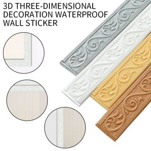 Adhesive Flexible Foam Molding Trim 3D Decorative Wall Lines Border Wallpaper*