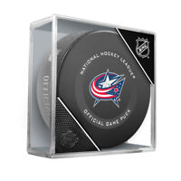 Columbus Blue Jackets Official NHL Game Hockey Puck (in Display Cube)