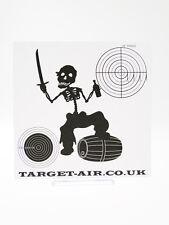 10 Cibles en carton Cible Pirata Squelette 14 cm carrés softair tir al