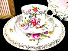 ROSENTHAL tea cup and saucer ROSE  Dresden Floral pattern teacup Germany