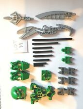 LOT M Lego Bionicle /Hero Factory GREEN  Mixed parts/Head/weapons exc condition