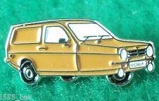 Reliant Robin MK1 1970s Classic 3 Wheeler Car Enamel Badge Metal Label Pin Brown