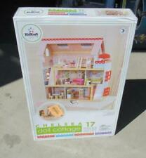 KidKraft Chelsea Doll House Cottage with 17 piece Furniture Set New