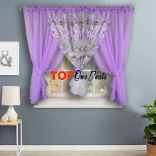 Amazing Voile Net Curtains Ready Made Printed Floral Living Room Bedroom New