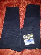 Boys Wrangler RUSTLER black relaxed jeans size 12 NEW clothing school holiday