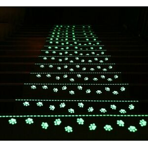 4Pcs Stair Tread Carpet Non Slip Mats Luminous Step Staircase Cover Pads
