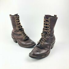 VTG Leather Logger Riding Boots Hawthorn Boot Distressed SZ 11 EE USA MADE