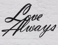 Love Always Wall Decor, Word Metal Wall Art, Metal Art, Cursive Wall Hanging