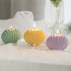 1Pc Shell Candle Soy Wax Scented Candle Birthday Wedding Party Home DecorBDBI