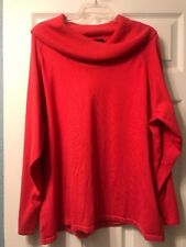 Investments II 3X Orange Cowl Neck Sweater, NEW, Rayon Blend
