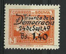 Bolivie Bolivia Anniversaire de la Revolution Mont Illimani Mount ** 1950 Surch