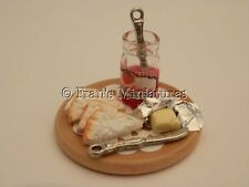Dolls house food - Bread  and strawberry jam board -By Fran