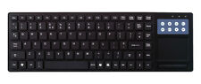 QWERTY T-PAD Slim Multimedia USB Keyboard with Touchpad UK layout