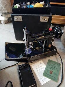 Singer 221K Featherweight 1951 Centennial Sewing Machine with Accessories