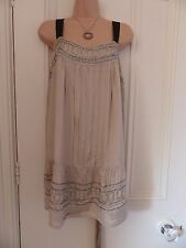 Lovely gold short silky dress Signature Next BNWT RRP £55 detachable scarf UK 14