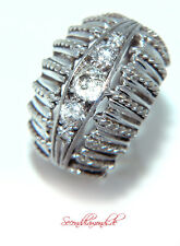 """Diamonds are forever"" Dôme Diamantring 18 kt + Platin Altschliff Diamanten Ring"