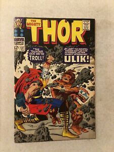 THE MIGHTY THOR #137 VF+ 8.5 1ST APPEARANCE OF ULIK THE TROLL