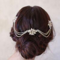 Brides Gold Flower Hairbands Bridal Hair Combs Wedding Hair Accessories