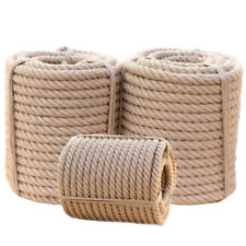 Twisted Manila 3 Strand Natural Fiber Cord Ropes Landscape Fitness Dock Decor