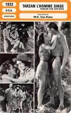 FICHE CINEMA : TARZAN L'HOMME SINGE - Hamilton,O'Sullivan,Dyke 1932 The Ape Man