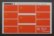 Reality In Scale 35006 Russian - Soviet war flags cotton 1:35 diorama accessory