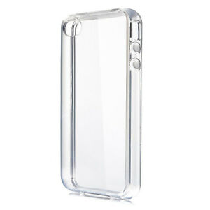 Transparent Clear Case Soft Silicone TPU Gel Cover Compatible with iPhone 4 4S