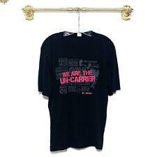 Tmobile Black Tee Short Sleeve Shirt Crew Neck Medium Uniform Wireless