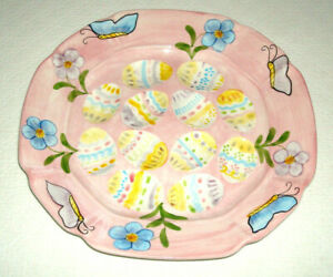 Deviled Egg Platter Plate for Easter by Laurie Gates
