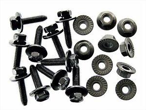 Mopar Body Bolts & Flange Nuts- M6-1.0 x 25mm Long- 10mm Hex- 20pcs (10ea)- #123