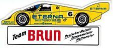 Team Brun Porsche ETERNA gelb  Sticker Aufkleber