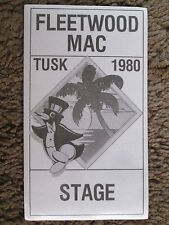 FLEETWOOD MAC 1980 TUSK UNUSED BLACK PRINT VINTAGE CLOTH BACKSTAGE PASS PENGUIN