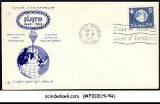 Canada - 1959 10th Anniversary Of Nato - Fdc