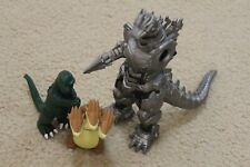toho 2016 japan mecha godzilla kidrobot ghidorah and baby clip figure parts lot