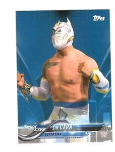 WWE Sin Cara #84 2018 Topps Blue Parallel Card SN 43 of 99