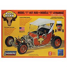 Lindberg BULL HORN FORD MODEL T Hot Rod Model Car Kit 1/16 Scale Skill Level 2