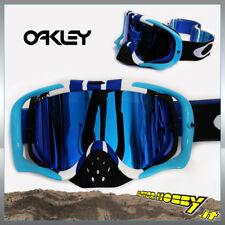MASCHERA OCCHIALE CROSS ENDURO OAKLEY CROWBAR MX PINNED RACE BLUE WHITE IRIDIUM