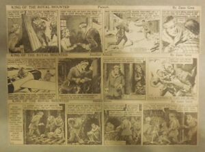 (311) King of the Royal Mounted by Zane Grey from 1937 Size: 3 x 12 inches