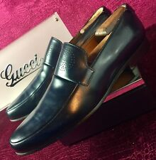 fc510bd49 $720.00 Mens Blue Gucci Leather Loafers Sz 10 G / 11 D US Made In ITALY
