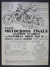 1978 Coca-Cola Motocross Finals Anaheim Stadium race promo vintage print Ad