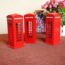 British English London Telephone Booth Bank Coin Bank Saving Pot Piggy Bank Box
