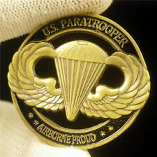 US ARMY PARATROOPER AIRBORNE PROUD ALWAYS EARNED NEVER GIVEN CHALLENGE COIN