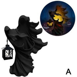 Hell's Messenger with Lantern Faceless Ghost Sculpture Halloween Decor.