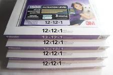 4 Pack Genuine 3M Filtrete Advanced Allergen Furnace MPR 1500 Air Filter 12x12x1