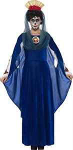 Day of the Dead Sacred Mary Costume, Blue, with Dress, 3D (UK IMPORT) COST-W NEW