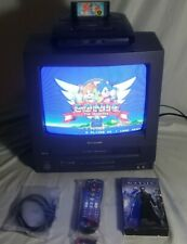 """SHARP 13VT-N100 13"""" Color TV VCR VHS Gaming Remote Manual Tape Bundle"""