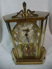 Kundo Etched Glass German Anniversary Clock Runs Great Keeps Time TopShelf