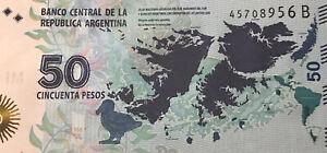 Argentina 50 Pesos 2015, P-New B-Serie UNC   Malvinas Islands (Falklands) commem
