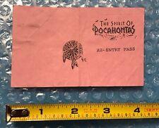 Disney DL - 1996 The spirit of Pocahontas re-entry Paper Pass