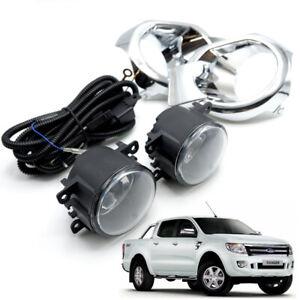For Ford Ranger T6 2012 13 14 Pickup Trim Kit Fog Lamp Spot Light Chrome