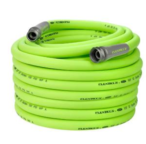"Flexzilla Garden Hose-5/8"" x 50-3/4""-11 1/2 GHT Fittings-Flexible Hybrid Polymer"